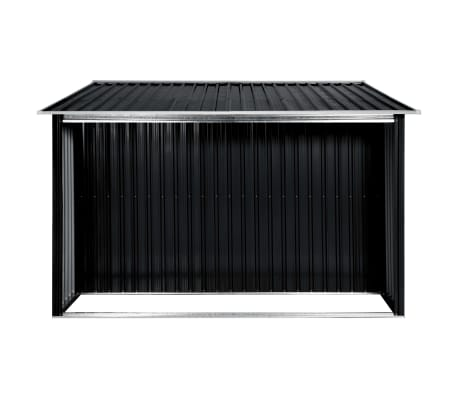 vidaXL Záhradná kôlňa s posuvnými dverami antracitová 329,5x259x178 cm oceľová[5/7]