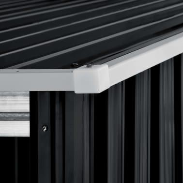 vidaXL Záhradná kôlňa s posuvnými dverami antracitová 329,5x259x178 cm oceľová[6/7]