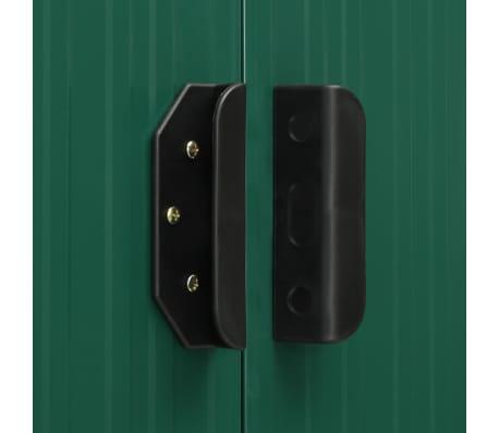 vidaXL Zahradní domek posuvné dveře zelený 329,5 x 312 x 178 cm ocel[8/10]