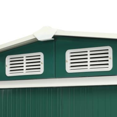 vidaXL Zahradní domek posuvné dveře zelený 329,5 x 312 x 178 cm ocel[6/10]