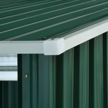 vidaXL Zahradní domek posuvné dveře zelený 329,5 x 312 x 178 cm ocel[7/10]