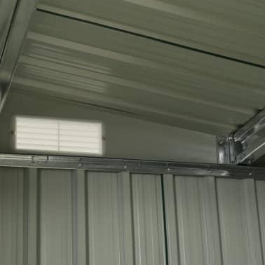 vidaXL Zahradní domek posuvné dveře zelený 329,5 x 312 x 178 cm ocel[9/10]