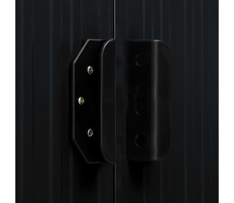vidaXL Tuinschuur met schuifdeuren 386x259x178 cm staal antraciet[9/10]