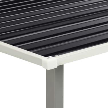 vidaXL Tuinschuur met schuifdeuren 386x259x178 cm staal antraciet[7/10]