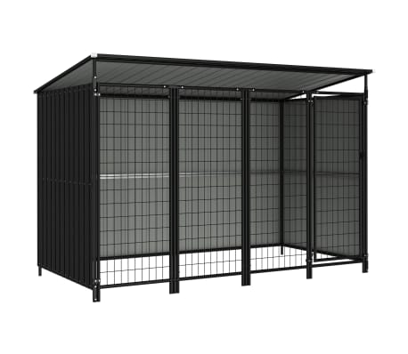 vidaXL Outdoor Dog Kennel 253x133x163 cm