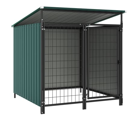 vidaXL Outdoor Dog Kennel 133x133x113 cm