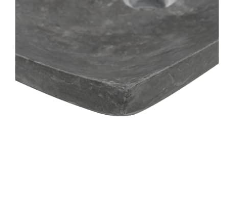 vidaXL Waschbecken 50×35×12 cm Marmor Schwarz[6/7]