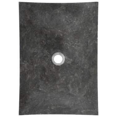 vidaXL Waschbecken 50×35×12 cm Marmor Schwarz[5/7]