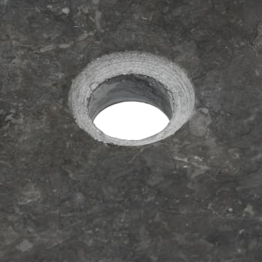 vidaXL Waschbecken 50×35×12 cm Marmor Schwarz[7/7]