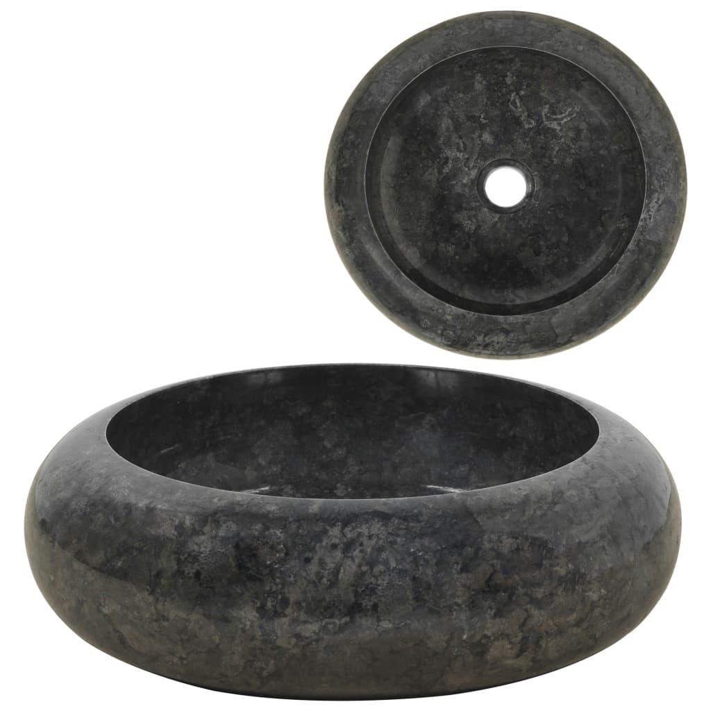 vidaXL Νιπτήρας Μαύρος 40 x 12 εκ. Μαρμάρινος