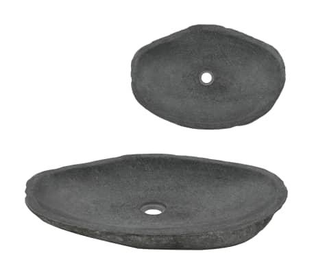 vidaXL Umyvadlo říční kámen oválné 60–70 cm