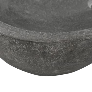 "vidaXL Wash Basin River Stone Oval 23.6""-27.6""[7/7]"