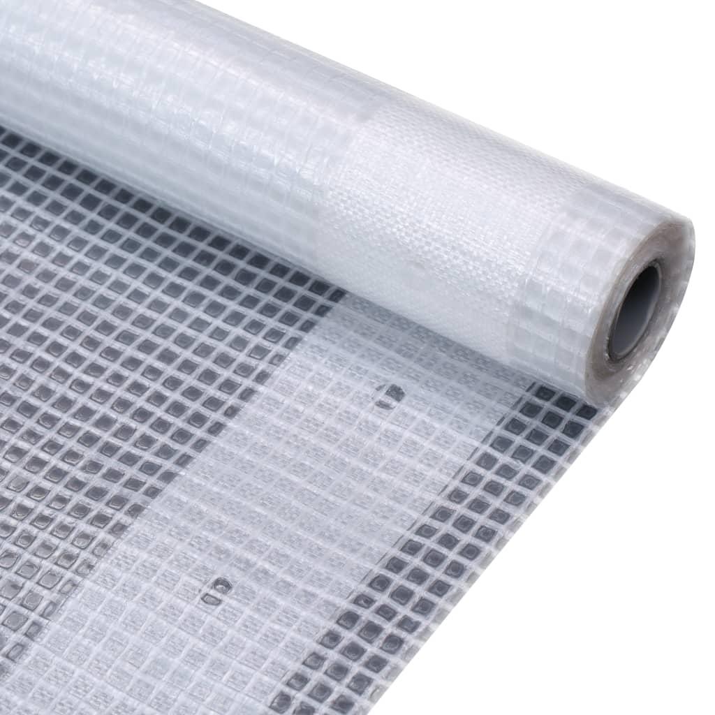 vidaXL Prelată Leno 260 g/m², alb, 1,5 x 5 m imagine vidaxl.ro