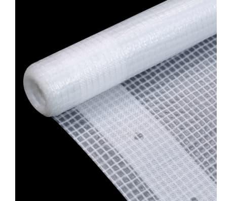 vidaXL Leno dekzeil 260 g/m² 1,5x20 m wit[3/5]