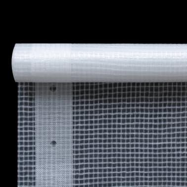 vidaXL Leno dekzeil 260 g/m² 1,5x20 m wit[2/5]