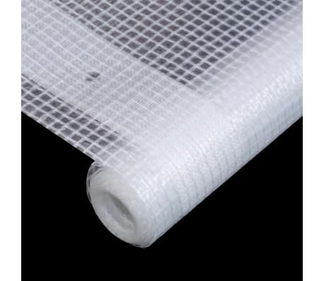 vidaXL Telone Leno 260 g / m² 2x5 m Bianco[4/5]