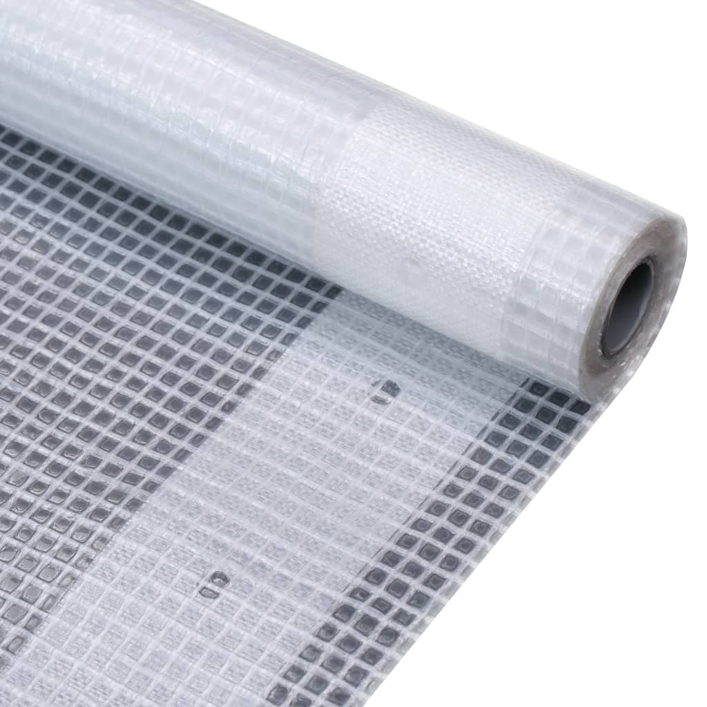 vidaXL Prelată Leno 260 g/m², alb, 2 x 10 m imagine vidaxl.ro