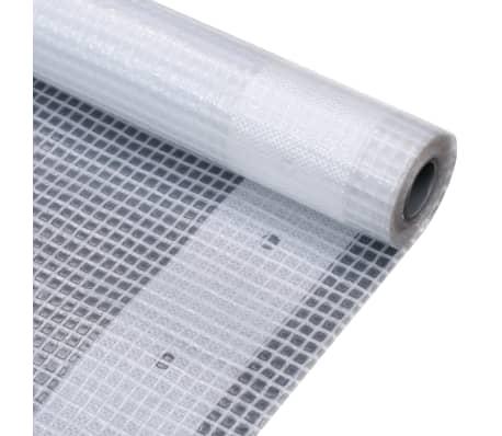 vidaXL Lona em tecido imitação de gaze 260 g/m² 4x6 m branco