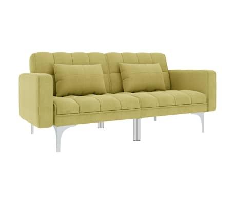 vidaXL Canapea extensibilă, verde, material textil