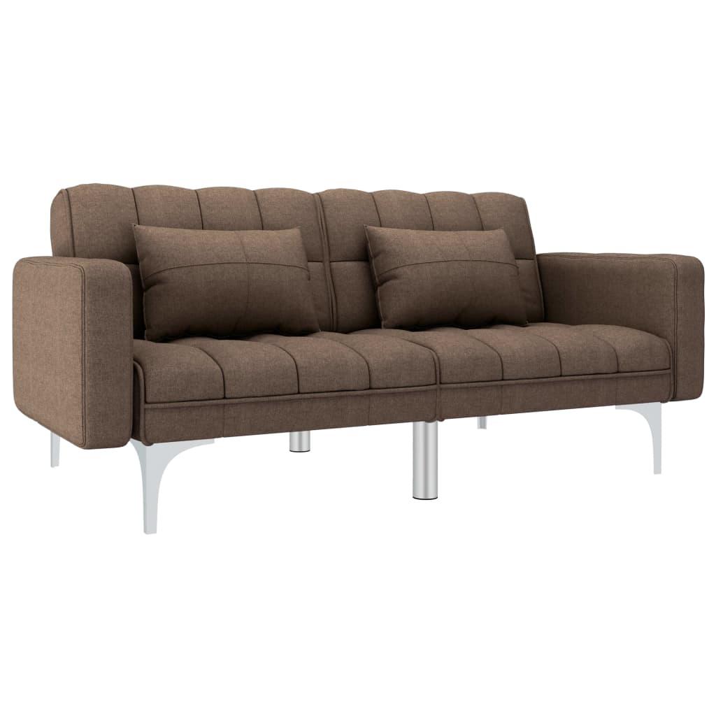 Canapé convertible Marron Tissu Contemporain Confort