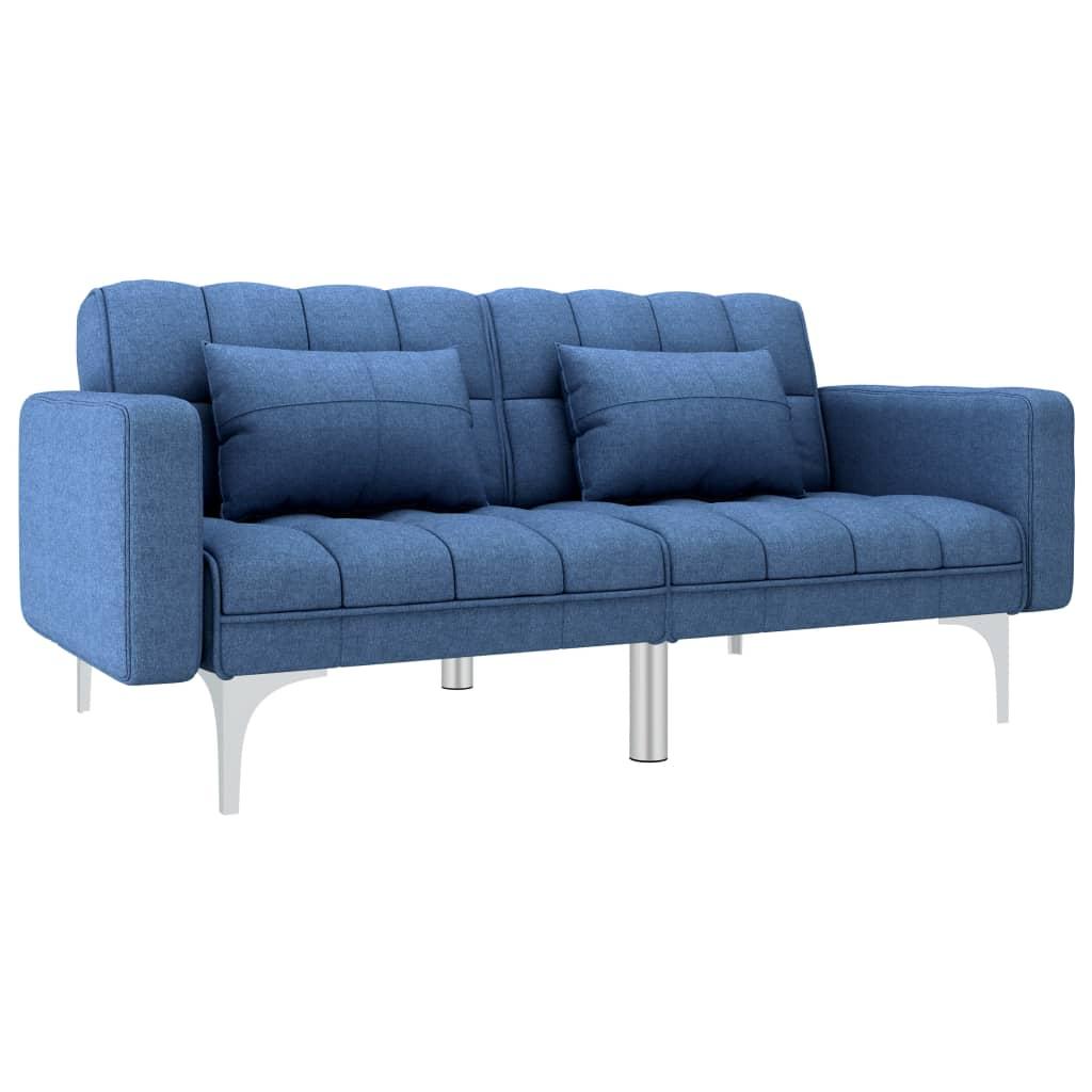 Canapé convertible Bleu Tissu Contemporain Confort