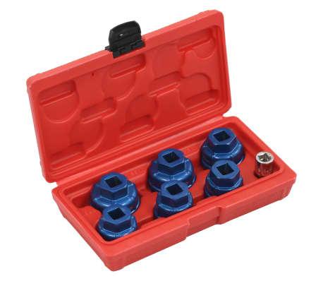 """vidaXL Kit de bouchons de filtre à huile 7 pcs 3/8"""""""