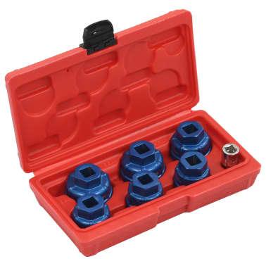 """vidaXL Tapones de filtro de aceite 7 piezas 3/8""""[1/6]"""
