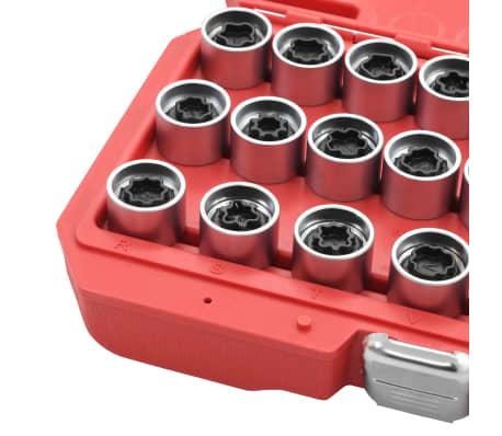 vidaXL Juego de llaves de bloqueo de ruedas 21 piezas para Audi[5/6]