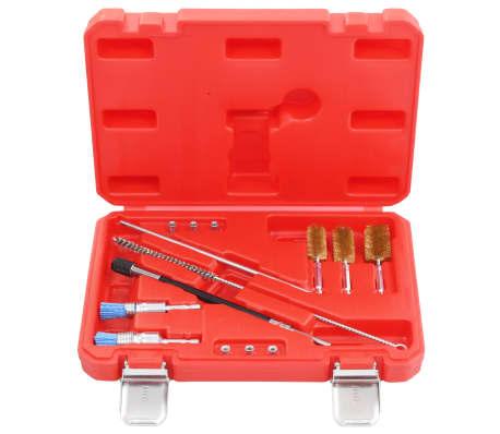 vidaXL Einspritzdüsen Dichtsitz Werkzeug 14-tlg Injektor Schacht Reinigung