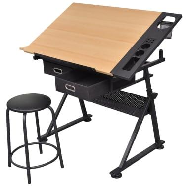 vidaXL Table à dessin à dessus inclinable avec chaise de jeux[7/14]