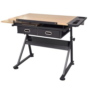vidaXL Table à dessin à dessus inclinable avec chaise de jeux[8/14]