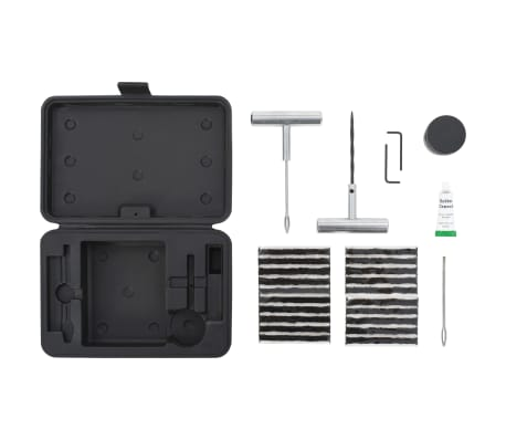 vidaXL 27 Piece Car Tire Repair Kit