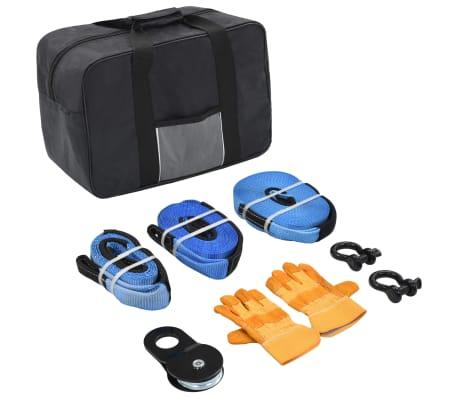 vidaXL 9-tlg. Auto-Abschleppgurt-Set