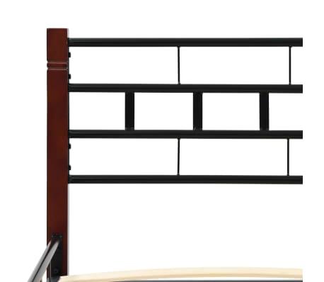 vidaXL Lit avec matelas Noir Métal 140 x 200 cm[5/11]