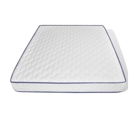 vidaXL Metalinė lova su Memory čiuž., 160x200cm, juoda, blokelių diz.[7/12]