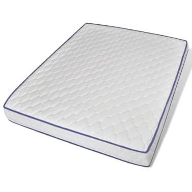vidaXL Metalinė lova su Memory čiuž., 160x200cm, juoda, blokelių diz.[8/12]