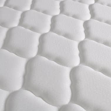 vidaXL Metalinė lova su Memory čiuž., 160x200cm, juoda, blokelių diz.[10/12]