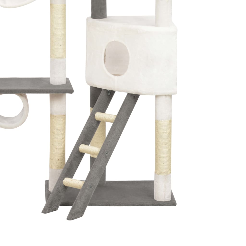 vidaXL Kattenkrabpaal met sisal krabpalen 234 cm grijs