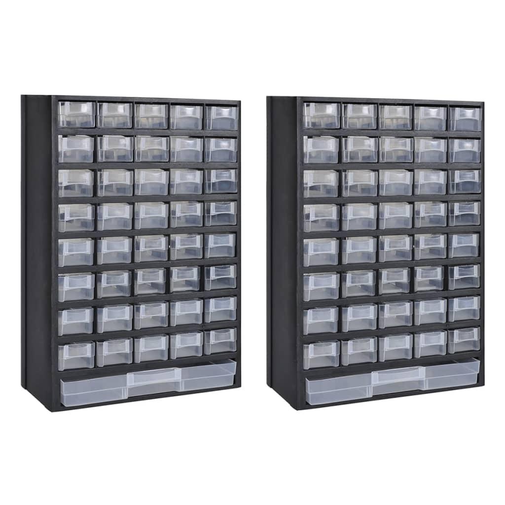 vidaXL Box na nářadí se 41 zásuvkami 2 ks plastový