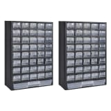 vidaXL 41-Drawer Storage Cabinet Tool Box 2 pcs Plastic