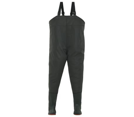 vidaXL Wathose mit Stiefeln Grün Größe 39[2/6]