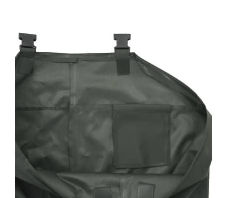 vidaXL Pantaloni Impermeabili con Stivali Verdi Taglia 42[5/6]