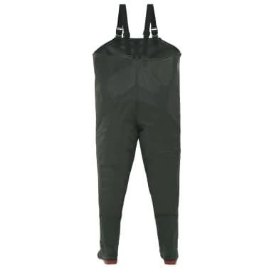vidaXL Pantaloni Impermeabili con Stivali Verdi Taglia 42[3/6]