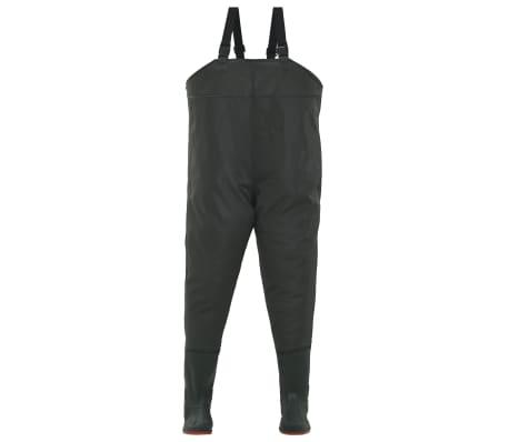 vidaXL Pantaloni Impermeabili con Stivali Verdi Taglia 46[2/6]