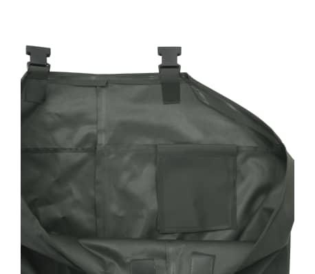 vidaXL Pantaloni Impermeabili con Stivali Verdi Taglia 46[5/6]