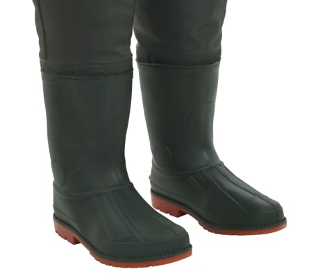 vidaXL Wading Pants with Boots Green Size 46[6/6]