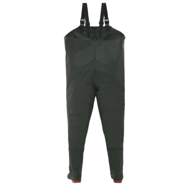 vidaXL Wading Pants with Boots Green Size 46[3/6]