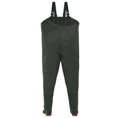 vidaXL Pantaloni Impermeabili con Stivali Verdi Taglia 46[3/6]