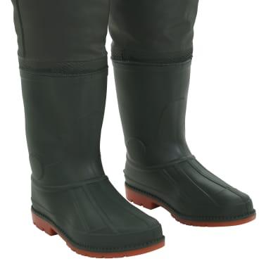 vidaXL Pantaloni Impermeabili con Stivali Verdi Taglia 46[6/6]
