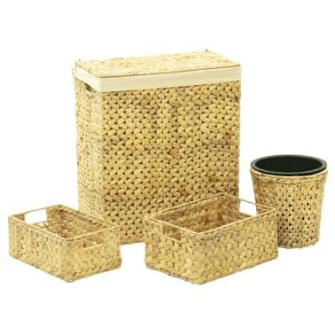 vidaXL 4 Piece Bathroom Set Water Hyacinth[1/15]